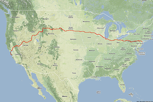 Bicycle Route Across the US