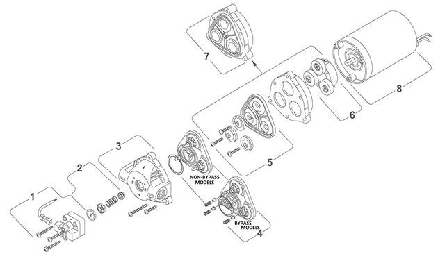 Parts for Shurflo Pump model # 8000-543-136