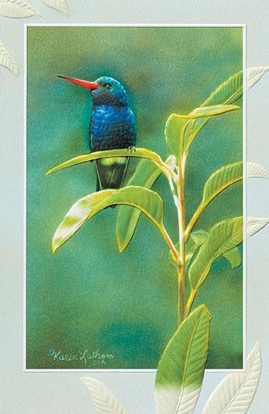 Crown Jewel Hummingbird Embossed Sympathy Cards