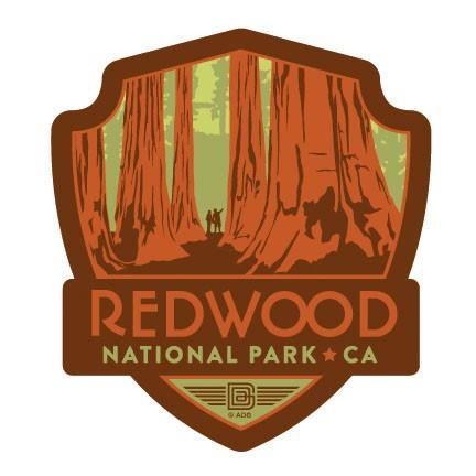Redwood National Park Emblem Magnet Vinyl Magnet
