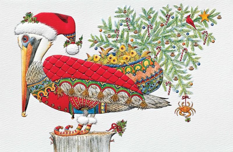 Pelican Noel Embossed Boxed Christmas Cards