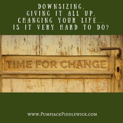changing your life is it hard to do with PumpjackPiddlewick