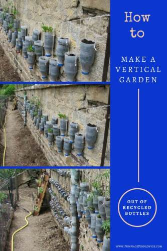 How to make a vertical garden out of recycled plastic milk bottles | PumpjackPIddlewick