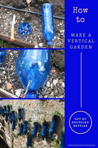How to make a vertical garden out of recycled plastic water bottles | PumpjackPIddlewick