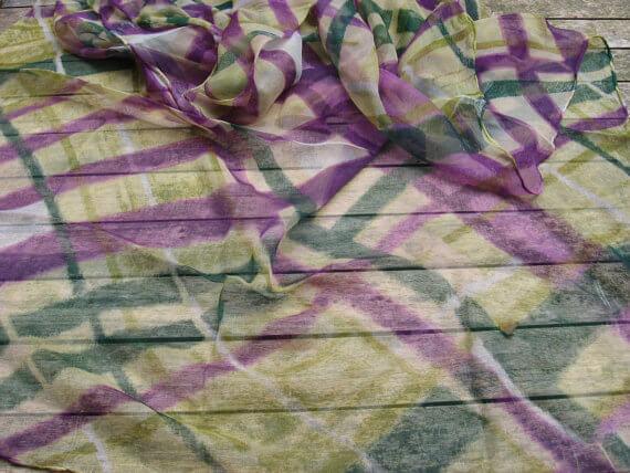 Plaid chiffon scarf_Sold at PumpjackPiddlewick