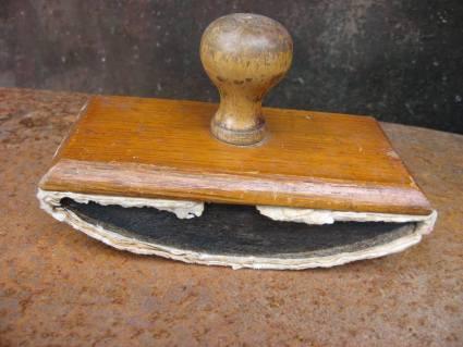1930s wood blotter rocker small at PumpjackPiddlewick.