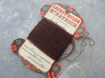 St Patrick wool brown thread at PumpjackPiddlewick