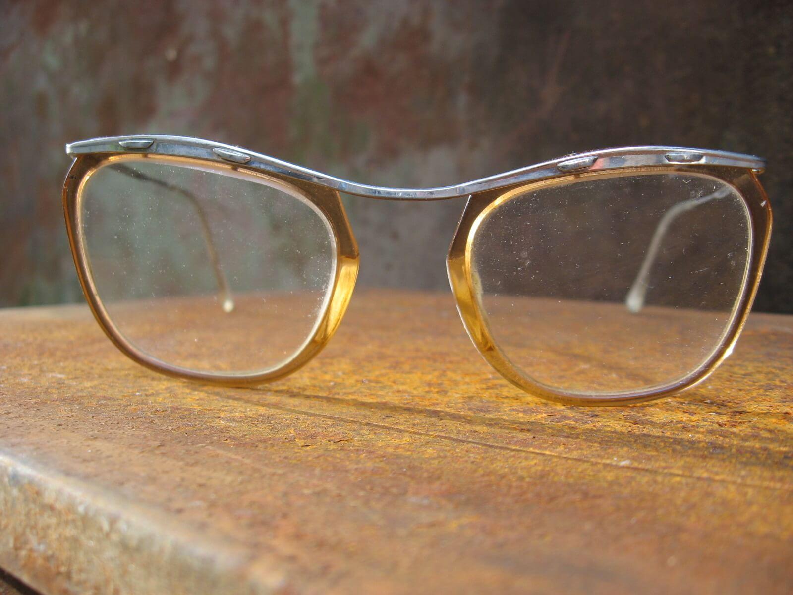 1950s womens silver brown browline geek glasses_D_PumpjackPiddlewick