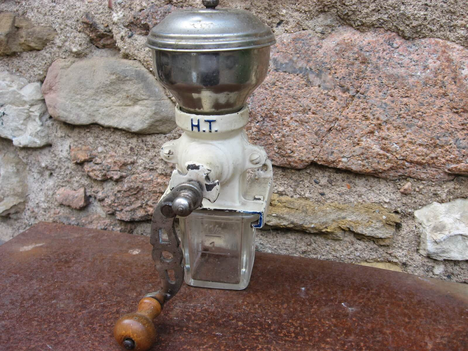 HT Armin Trosser wall mounted coffee grinrder 1930 at PumpjackPiddlewick