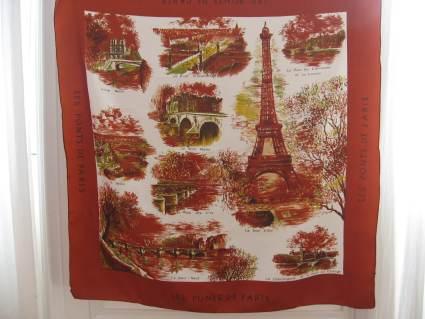 bridges of Paris scarf autumn colors at PumpjackPiddlewick