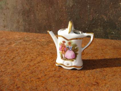 Miniature Watering Can by Limoges at PumpjackPiddlewick