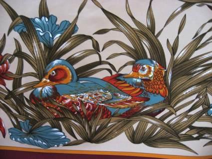 Mandarin Duck scarf at PumpjackPiddlewick