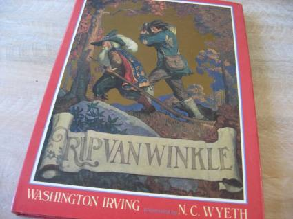 vintage Rip van Winkle story book with great illustrations