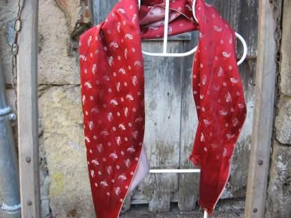Elegant French silk scarf for him