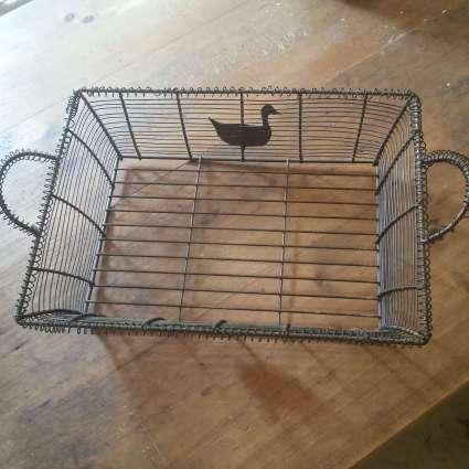 Duck wire basket at PumpjackPiddlewick