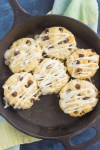 These Chocolate Chip Biscuits are light, fluffy, and filled with sweet chocolate chips. Easy to make and ready in less than 30 minutes, this simple dish is perfect for breakfast or dessert!