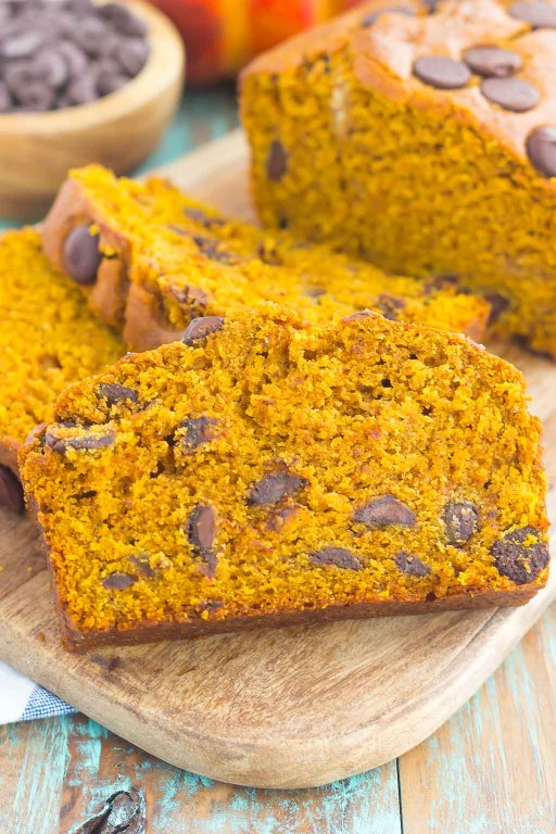 This Pumpkin Peanut Butter Spice Bread is filled with a warm pumpkin flavor, dark chocolate chips, and creamy peanut butter. Easy to make and filled with an irresistiblecombination, this spiced bread will become your favorite breakfast or dessert of the season!