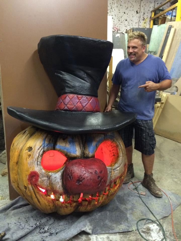 Giant Pumpkin Custom Work  Pumpkin Pulp Horror Halloween