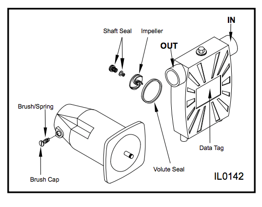 zoeller model 314 transfer pump Exploded View