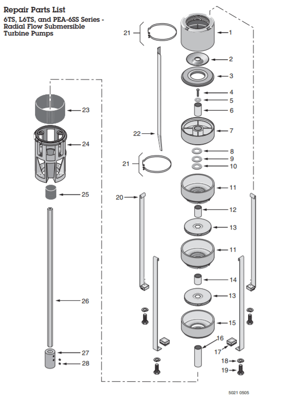 sta rite lt6s s-series series-6 submersible well pump diagram