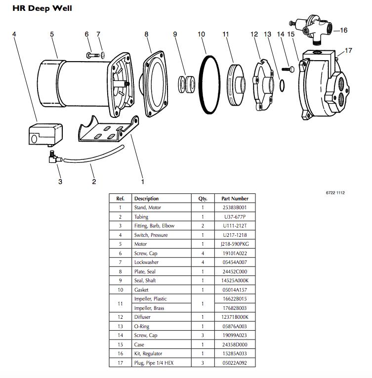 myers hr series convertible jet pumps repair parts