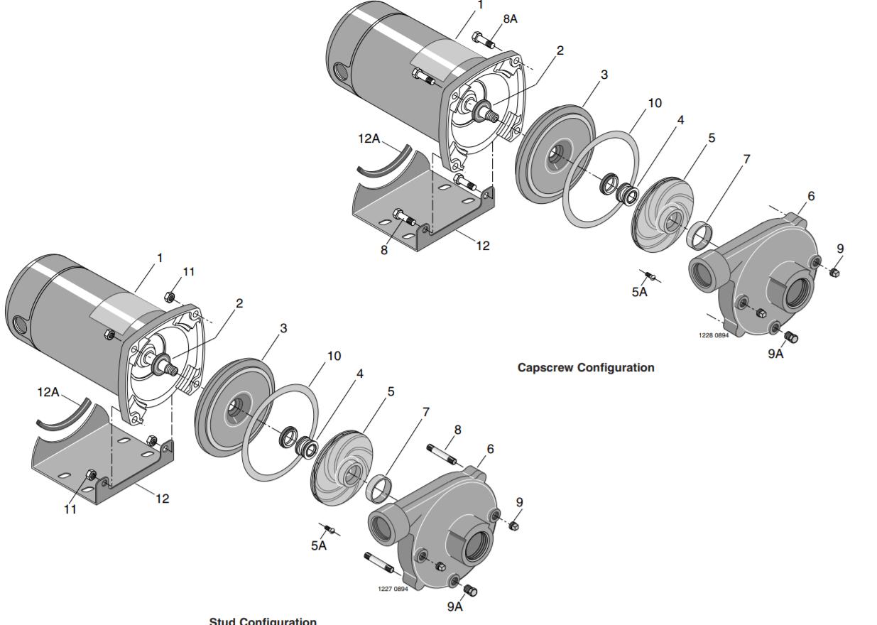Berkeley CB-PB-Series Lawn irrigation pumps parts diagram