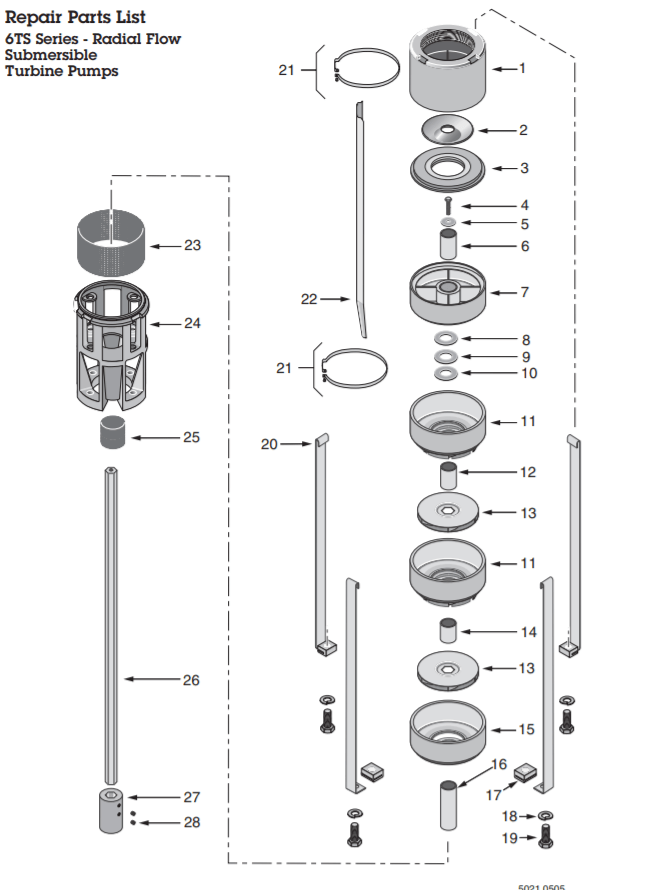 berkeley ts series submersible turbine pump end flowparts