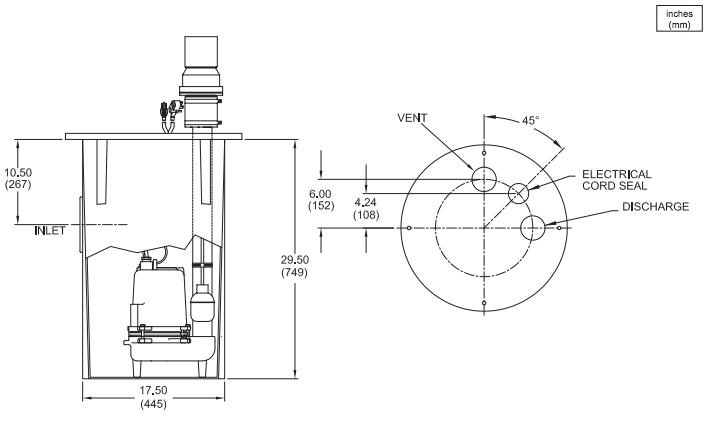 barnes sev sp series sewage system packages dimensions