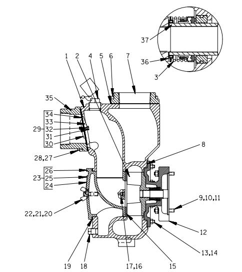 AMT 14D1-GX390, Self-Priming Trash Pump With Honda GX390