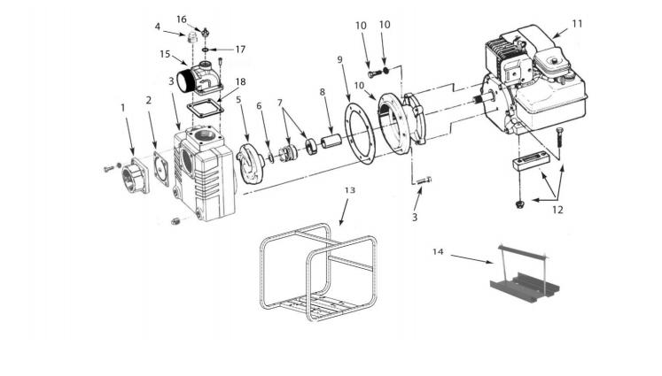 AMT 3391-V5, Solids Handling Pump With Honda GX270 OHV
