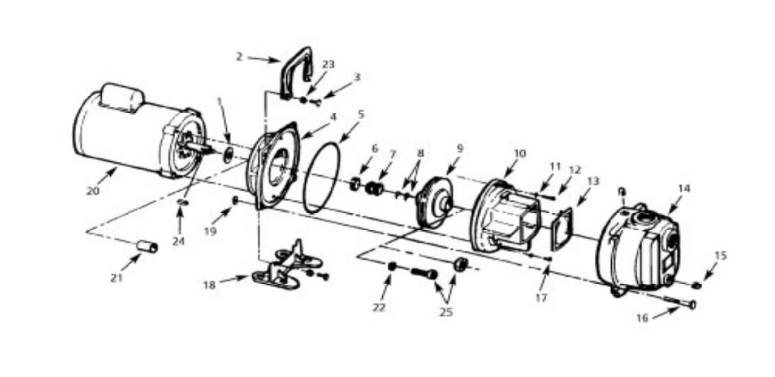 AMT 3657-95, Sprinkler Booster Pump, 5 HP, 230 Volts, 1
