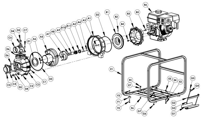 AMT 3P9XZR, High Pressure Pump With Hatz Diesel 1B40