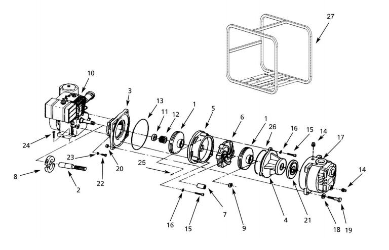 AMT 4787-95, High Pressure Pump With B & S Vanguard Engine