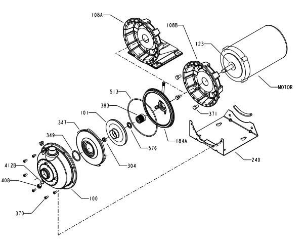 Goulds 1ST2C5B4, Centrifugal Pump, NPE Series, 1/2 HP, 208