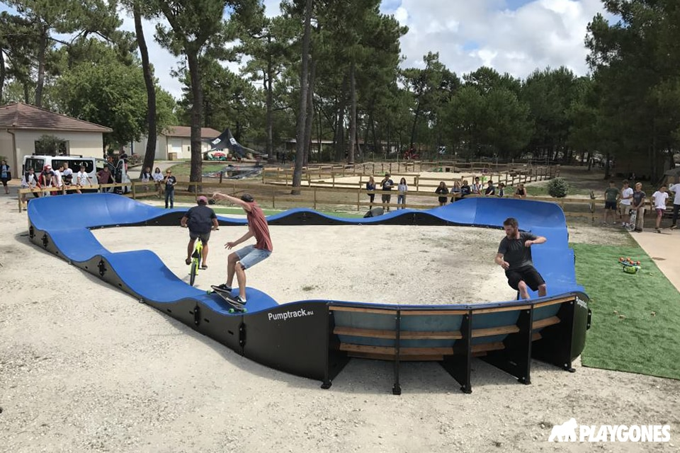 ucpa pumptrack surf montalivet 1 - Réalisations pumptracks modulaires