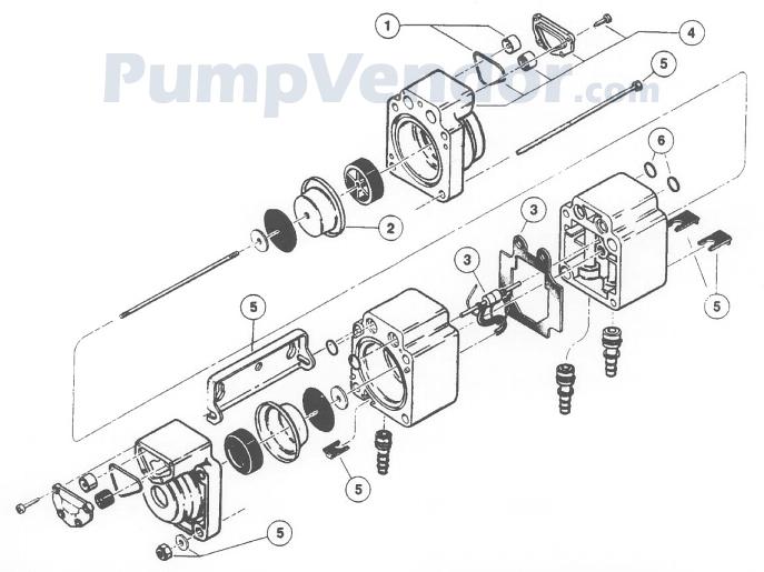 Flojet 05100-010 Parts List