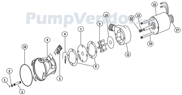 Flojet 18555-000A Parts List