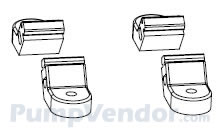Flojet 20717-100A Rubber Mounting Feet