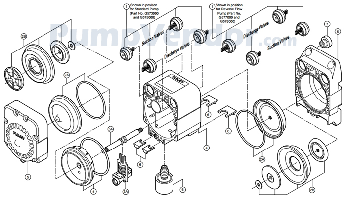 Flojet G257501A Parts List