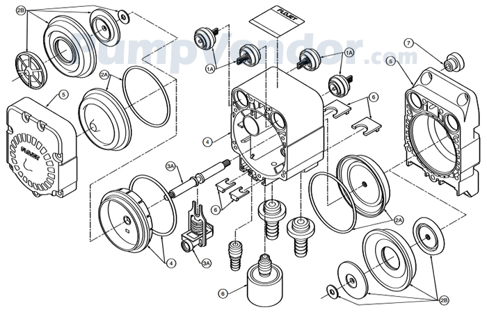 Flojet G57-5215 Parts List