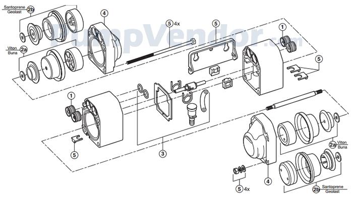 Flojet N5100020A Parts List