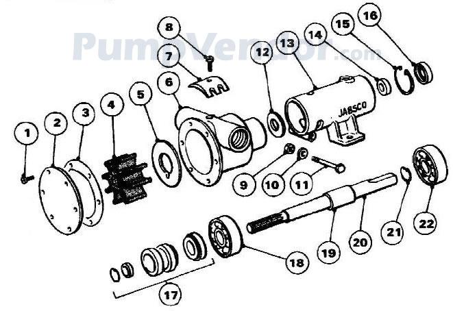 Jabsco 10550-200 Parts List
