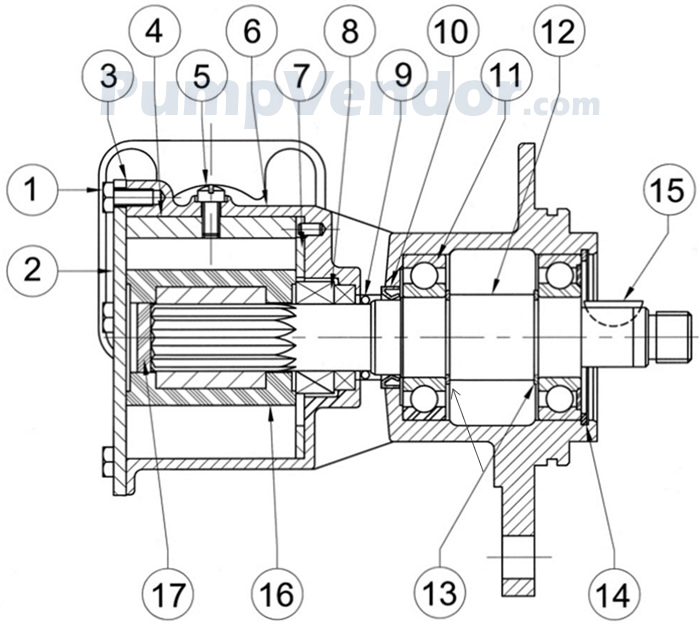 Jabsco 10770-0351 Parts List