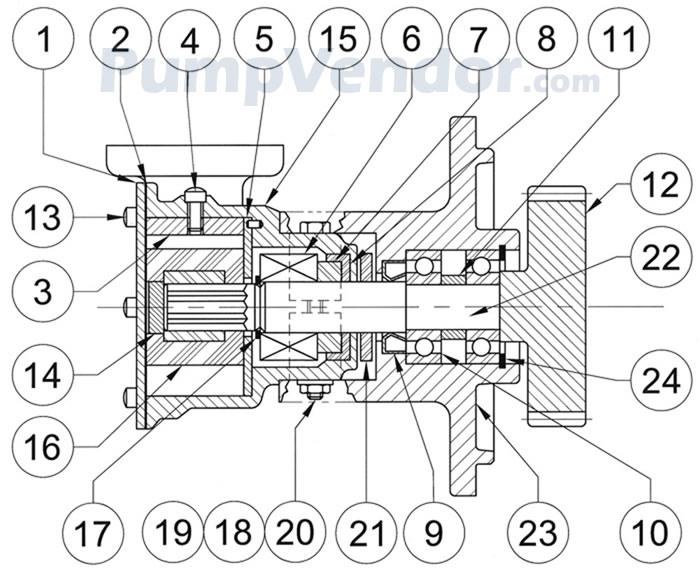 Jabsco 10970-21 Parts List