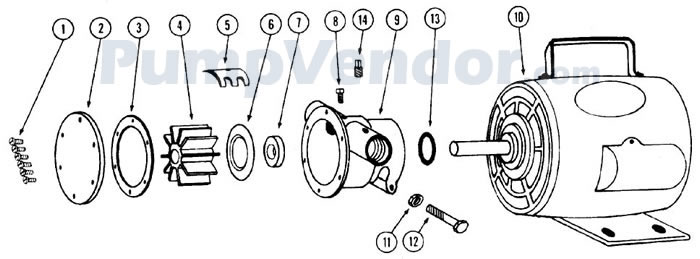 Jabsco 11810-0003 Parts List