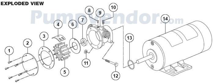 Jabsco 11810-0241 Parts List