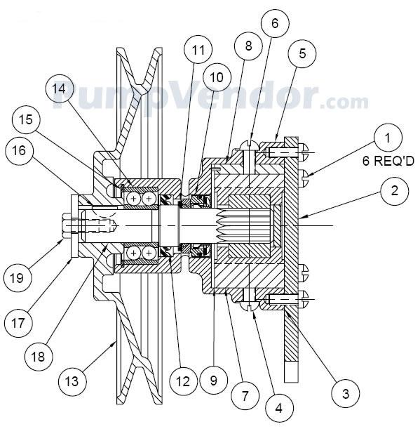 Jabsco 11850-0801 Parts List