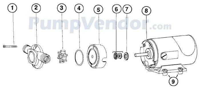 Jabsco 12310-0001 Parts List