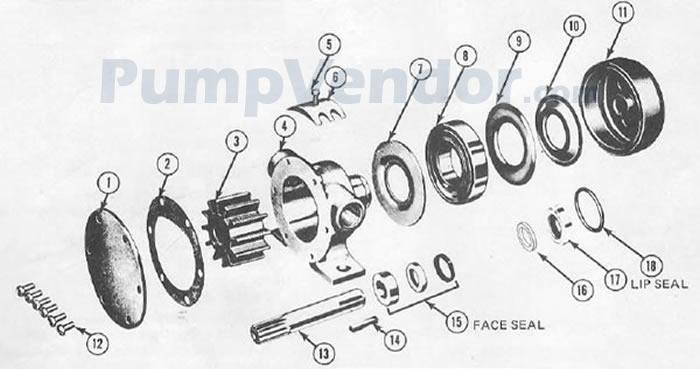 Jabsco 1673-9003 Parts List