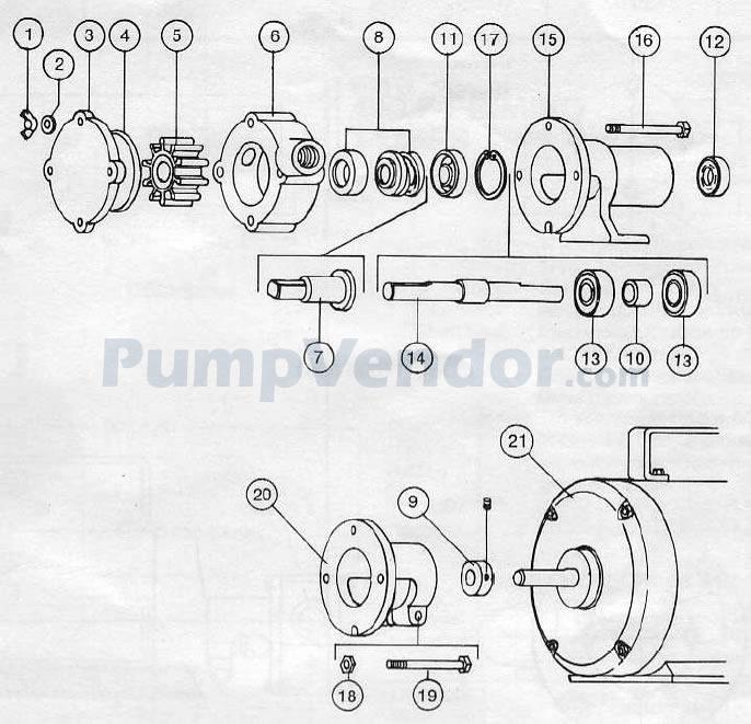 Jabsco 17000-0003 Parts List